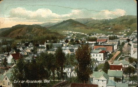 Bird's Eye View of City Roseburg, OR
