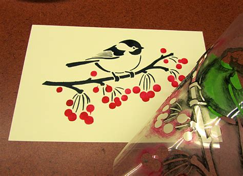 holiday card making  stencils stencil stories
