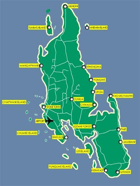 map  zanzibar island map  pemba island map  mafia
