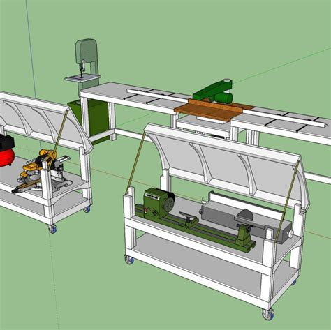 tommys miter  station  rolling workbench plans