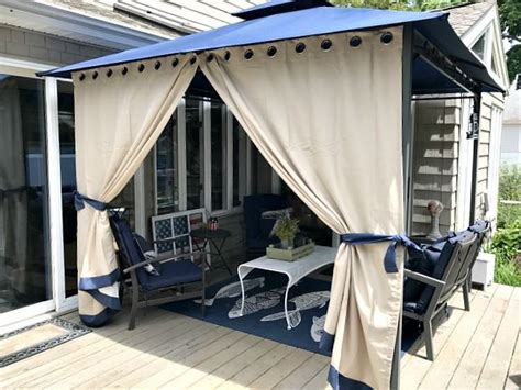 Diy Gazebo Curtains With Tie-backs For Sun Glare Shower Curtain Ideas For Gray Bathroom Blue And Brown Fabric Croydex Hooks Gliders Nautical Themed Black Tan Primitive Pottery Barn Rod Rail With Suction Cups Fineline