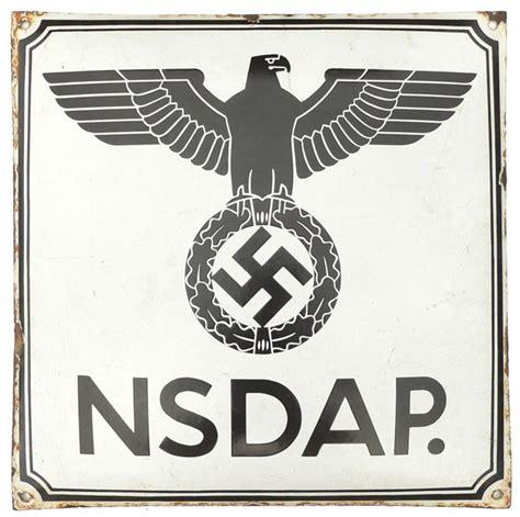 Miscellaneous: NSDAP Enamel Sign