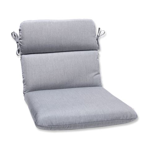 pillow rounded corners chair cushion with grey