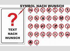 20x30cm Schild Aufkleber Verbotszeichen nach Wahl Text und