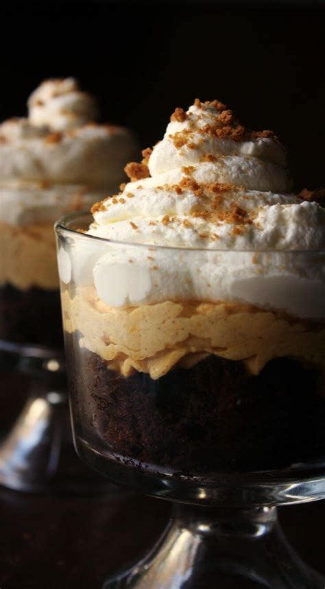 Pumpkin Mousse Brownie Trifle by 1000 Ideas About Mini Trifle On Pinterest Trifles