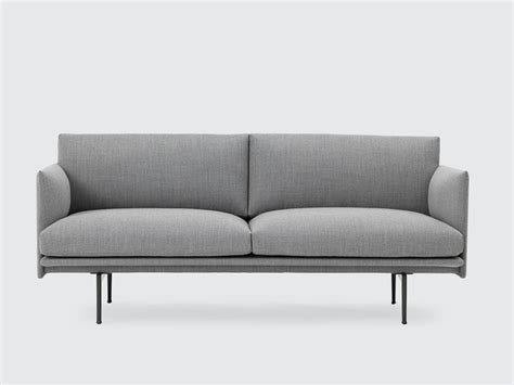 Buy The Muuto Outline Two Seater Sofa In Fiord Fabric At