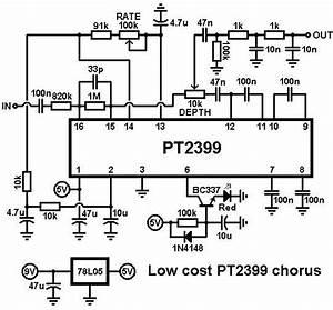 Pt2399 Delay Pedal Schematic