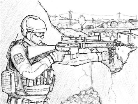 World War 2 Soldier Drawing At Getdrawingscom Free For