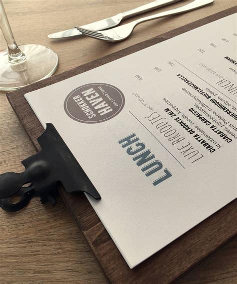 ontwerp menukaart