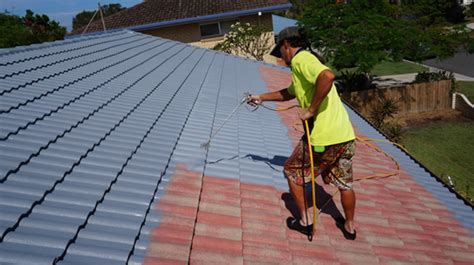 roof tile paint roof painting go zeaus house washing brisbane
