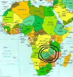 Zambia Africa Map