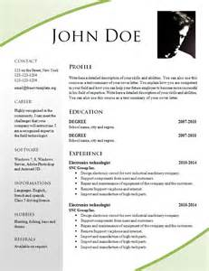 attractive resumes for free resume templates 695 701 free cv template dot org
