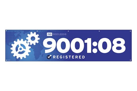 iso 9001 2008 banner standard flags