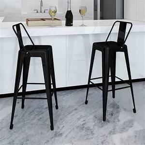 Mobilier De Bar : 2 tabourets avec dossier chaise de bar haute mobilier de ~ Preciouscoupons.com Idées de Décoration