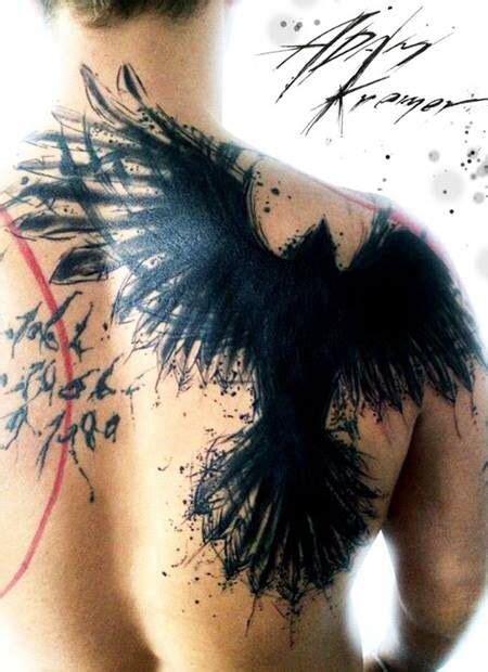 unique raven tattoo images  pictures ideas