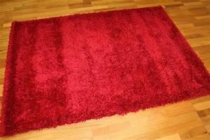 Tapis Shaggy Rouge : tapis shaggy shaggy deluxe rouge ~ Teatrodelosmanantiales.com Idées de Décoration