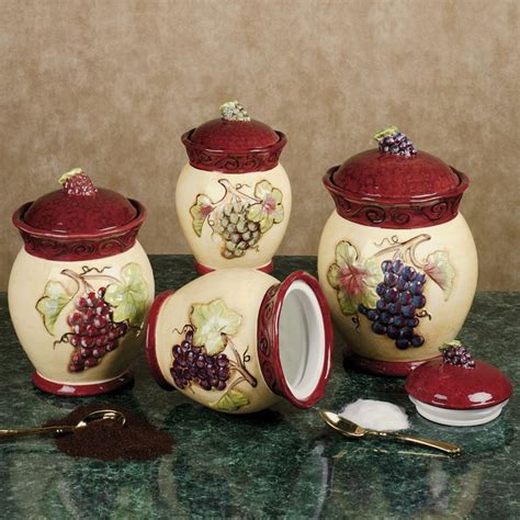 tuscan kitchen canisters sets 17 best images about kitchen grapes wine on