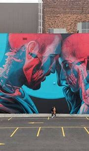 Two-tone 3D mural by Insane51 – Streetartist