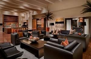decoration salon moderne noir deco maison moderne With deco salon ancien et moderne