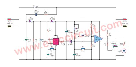 timer 1 15 minutes by triac 2n6075 and lm555 lm358