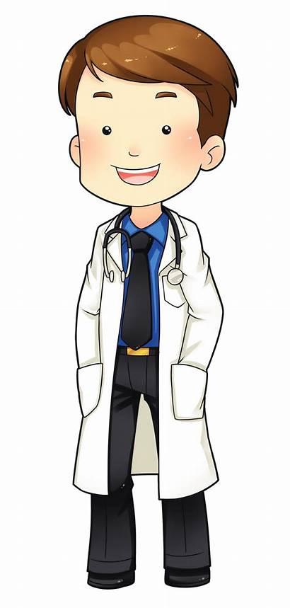 Doctor Cartoon Clipart Clip Transparent Physician Patient