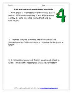 Fourth Grade Math Word Problems Worksheets