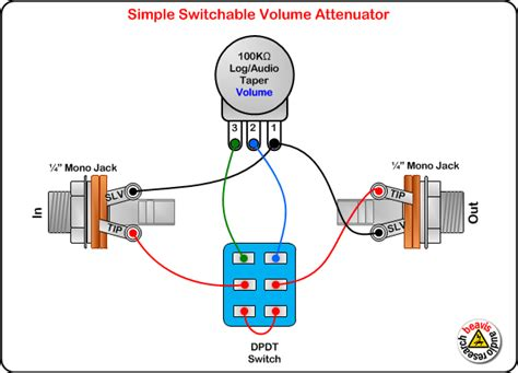 switchable volume attenuator wiring diagram guitars stringed instruments guitar