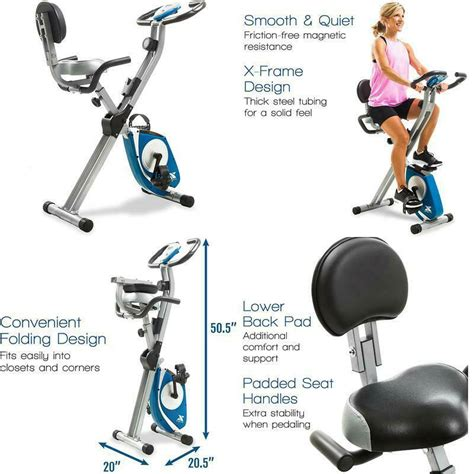 Xterra Fitness Fb350 Folding Exercise Bike Silver ...