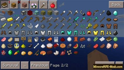 items mod  minecraft pe android