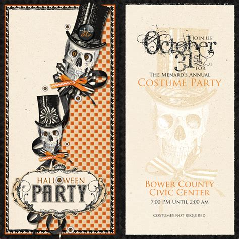 blank halloween invitation templates festival collections