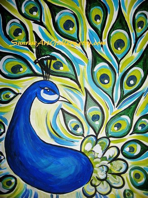 Simple Paintings Of Peacock