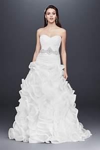 ruffled skirt wedding dress with embellished waist style With ruffle wedding dress
