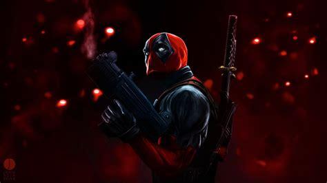 Full Hd Wallpaper Deadpool Katana Hero Mask Gun, Desktop