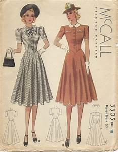 Vetement Annee 30 : patron de couture robe des ann es 1930 mccall 3305 1939 robes vintage pinterest couture ~ Dode.kayakingforconservation.com Idées de Décoration