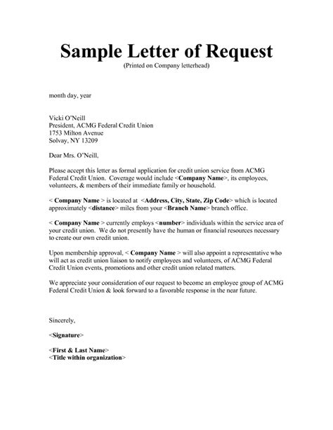 Exle Of Formal Letter Of Request by Formal Request Letter Sle Letters Free Sle Letters