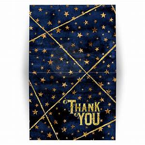 navy blue watercolor and gold stars thank you card With what kind of paint to use on kitchen cabinets for personalized thank you stickers