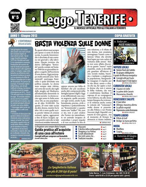 Consolato Italiano A Tenerife by Calam 233 O Leggo Tenerife Giugno 2013