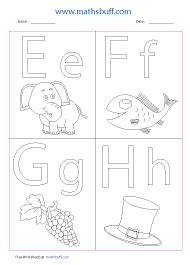 letters coloring worksheets