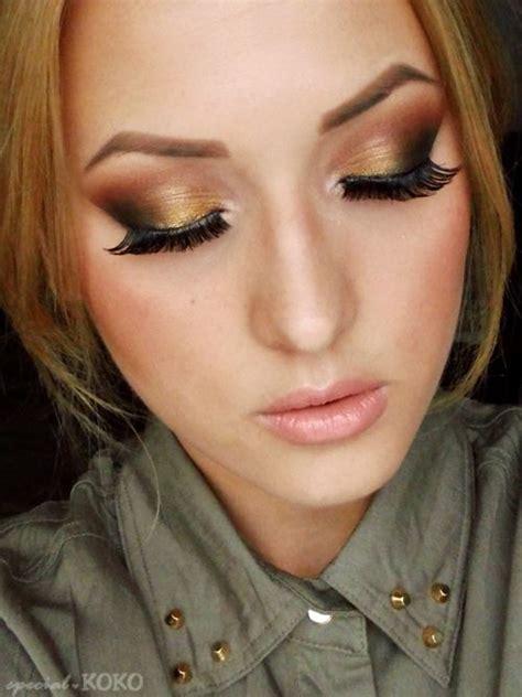 charming golden eye makeup    pretty designs