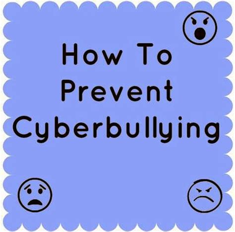 to avoid the s cyber bullying How