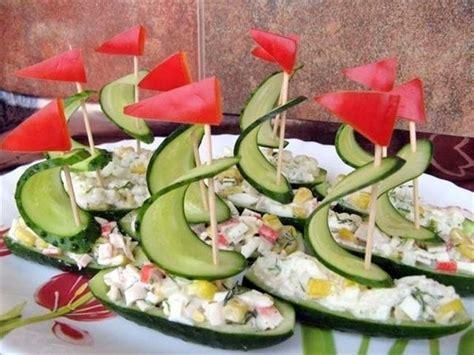 diy amazing salad decoration vegetables boat cool