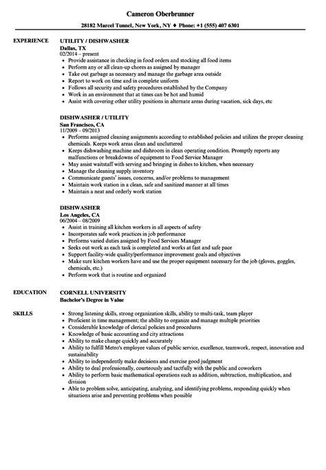 Dishwasher Resume Sle by Pretty Dishwasher Resume Sle Images Dishwasher Resume