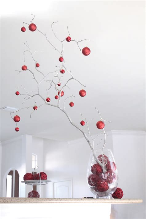 easy christmas branch centerpiece house mix