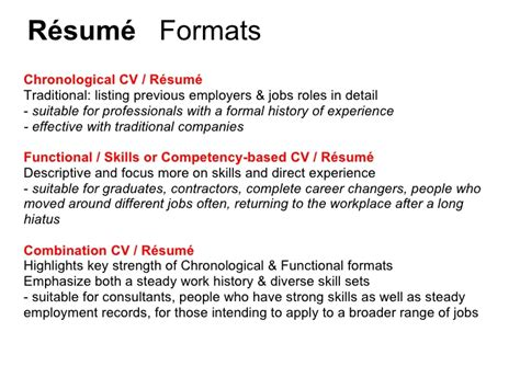 Chronological Resume Advantages by Effective Cv Resume Writing