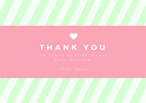 thank you card bridal shower template customize 171 bridal shower thank you card templates