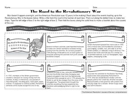 quot the road to the revolutionary war quot worksheet reviews