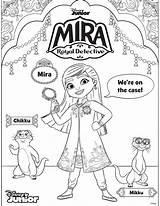 Mira Coloring Detective Royal Detetive Disney Sheets Mikku Sheet Colorir Chikku Spyglass Enjoy Three These Anoop Arteira Lu sketch template