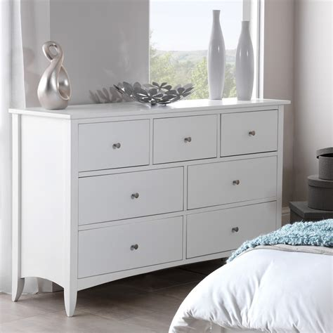 Bedroom Drawers White by Edward Hopper White 7 Drawer Chest Bedroom Furniture Direct