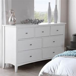 Edward Hopper white 7 drawer chest Bedroom Furniture Direct