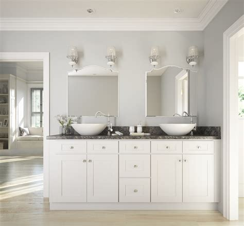 brilliant white shaker ready  assemble bathroom